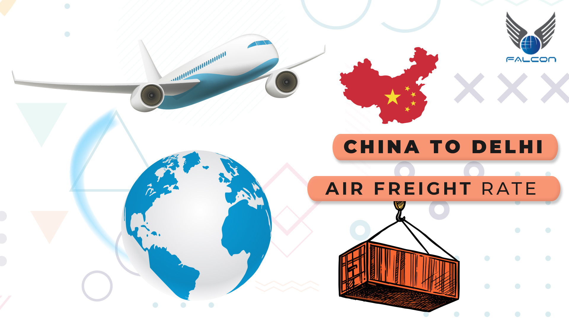 China to Delhi air freight rate