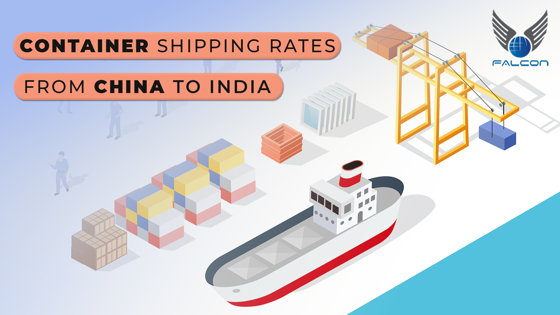 Container shipping rates from China to India