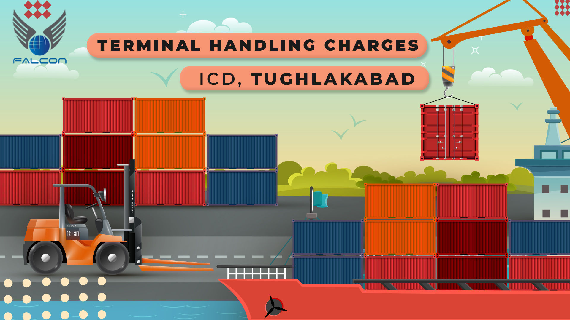 Terminal Handling Charges In ICD,-Tughlakabad