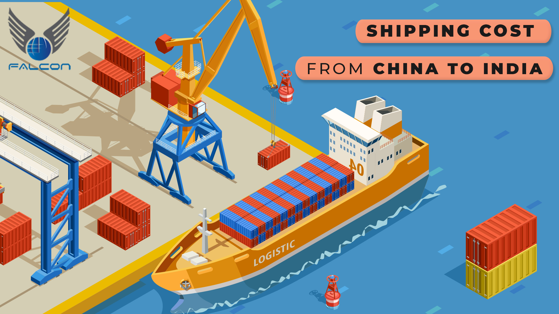 Shipping cost from China to India
