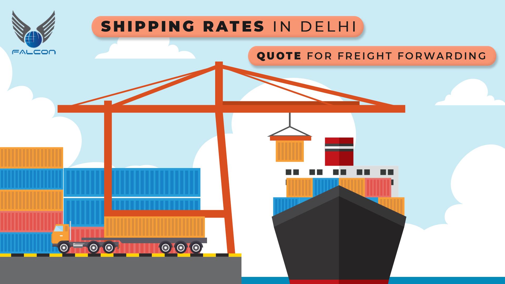 Shipping rates in Delhi