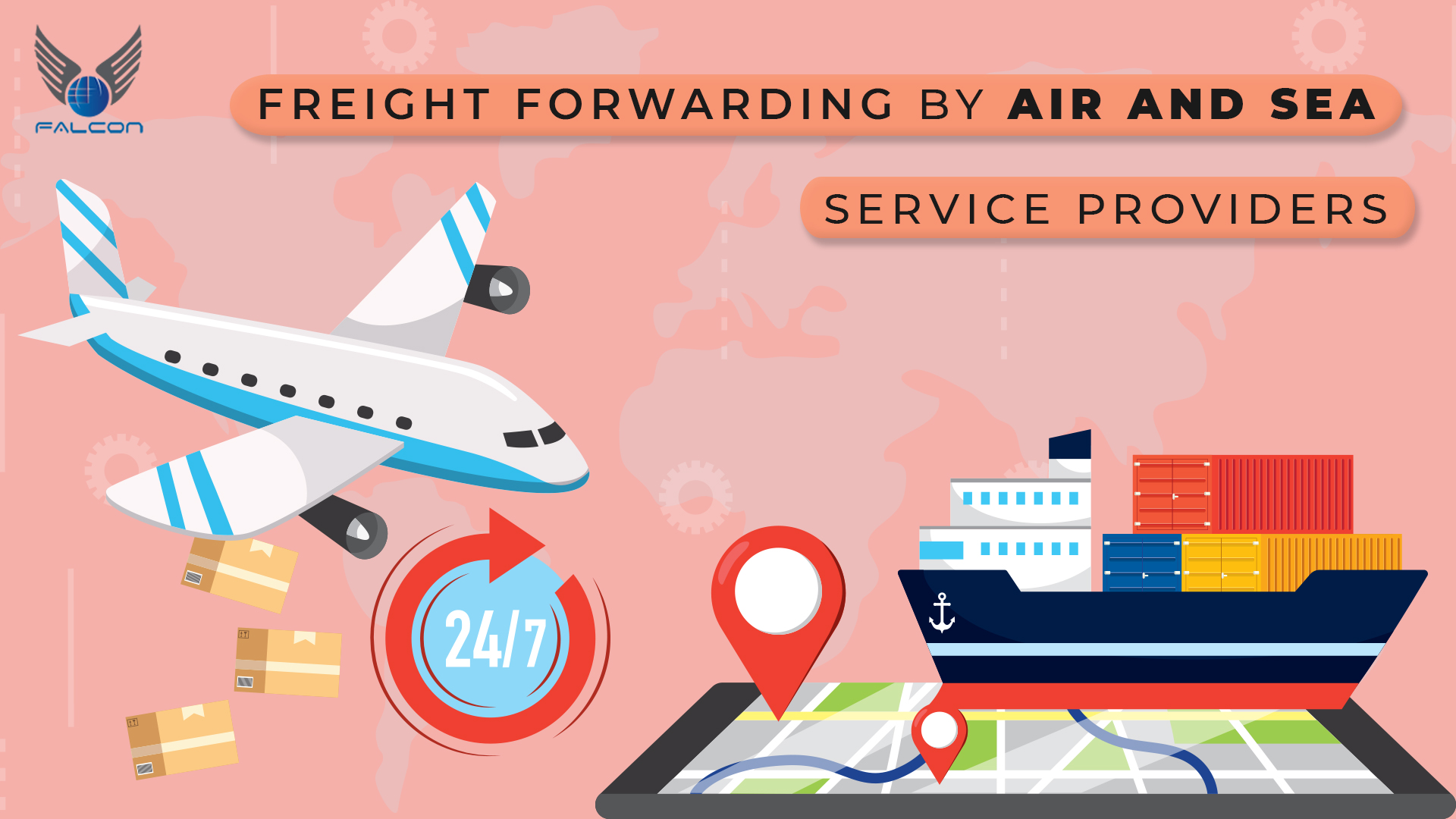 freight forwarding by air and sea service provider