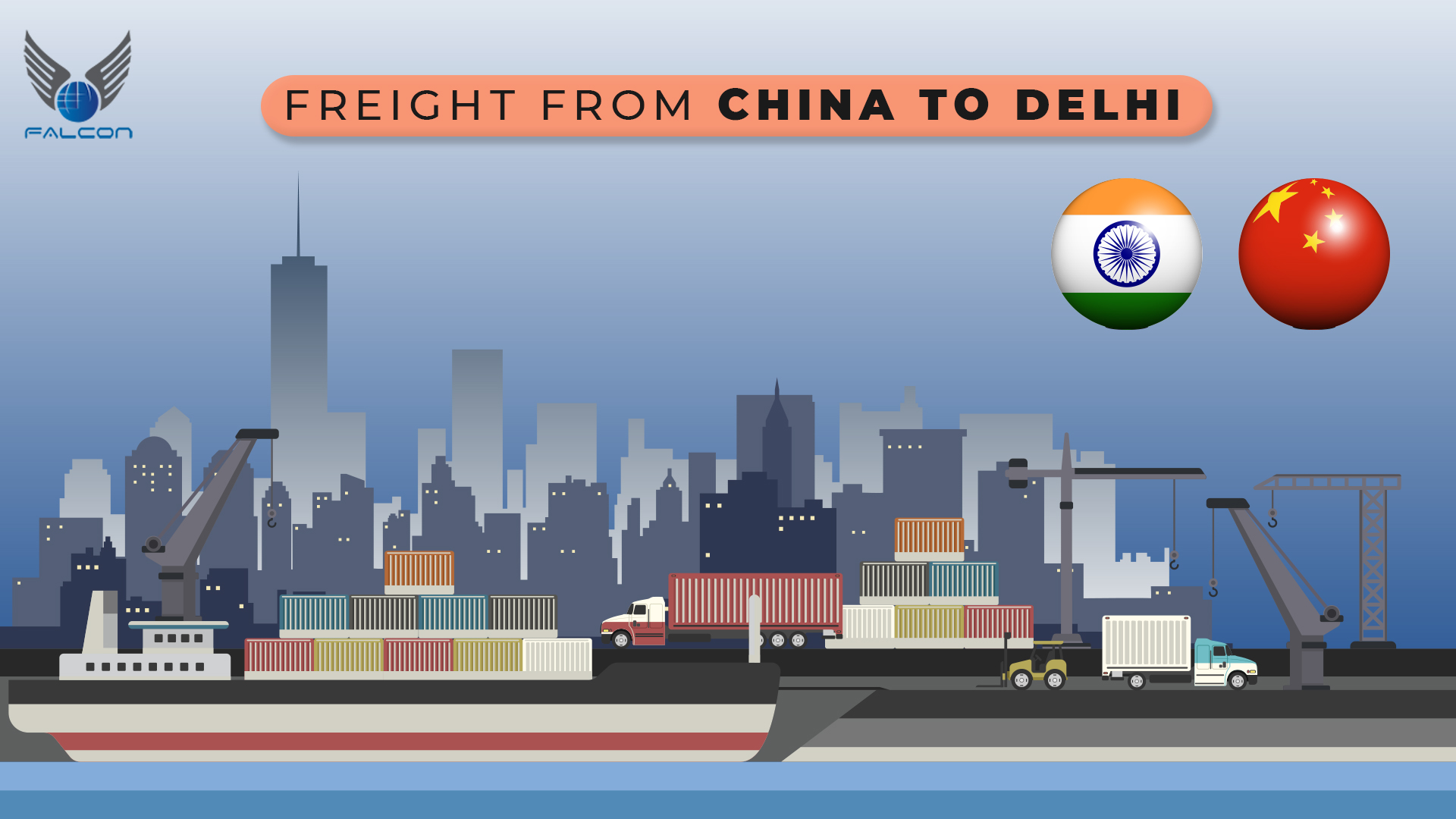 freight from china to delhi