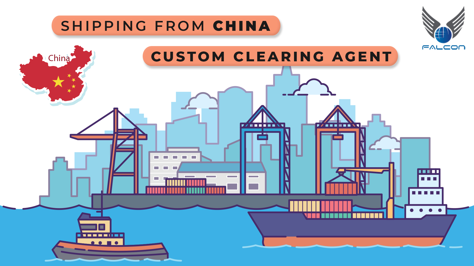 shipping from china and custom clearing agent